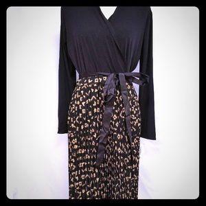 LuLaRoe Deanne Aztec Maxi Wrap Surplice Dress